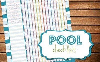 Basic pool care checklist