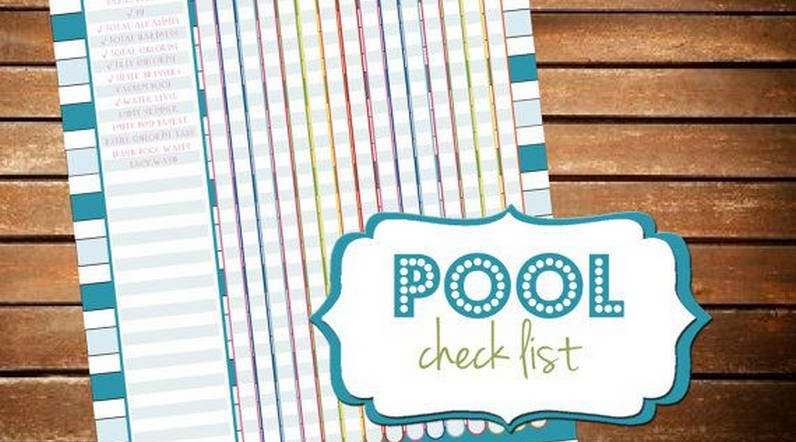 Basic pool care checklist